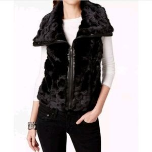 KUT from the Kloth Kate Fur Vest Size Large NWT
